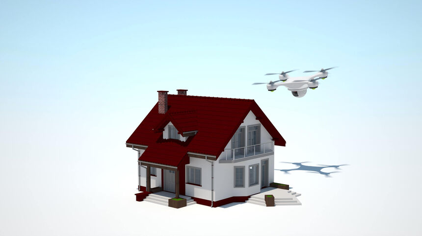 Home security using drones
